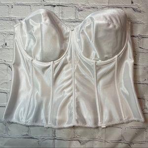 Dominique Corset Bustier Bra White Size 44DD/E